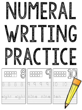 Numbers: Writing Practice Pages (1-20)