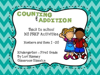 Numbers and Additions - No Prep Activities