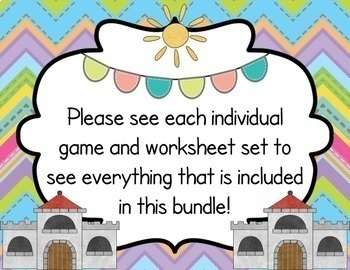 Numbers and Alphabet Game Mats & Worksheets BUNDLE