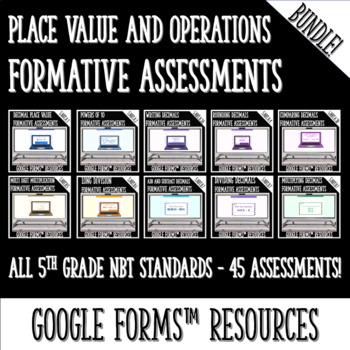 Numbers and Base Ten BUNDLE DIGITAL TASK CARDS BUNDLE for Google Classroom