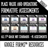 Whole Numbers and Decimals Formative Assessments for Google Forms