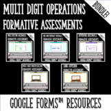 Whole Number and Decimal Operations Formative Assessments