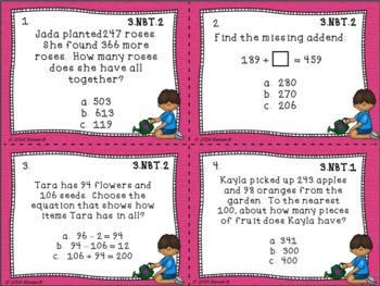Numbers and Base Ten Test Prep Task Cards