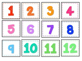 Numbers and Color Labels