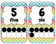 Numbers and Colors {Chevron Backgrounds}