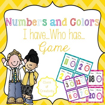 Numbers and Colors Loop Game - I have, Who has...