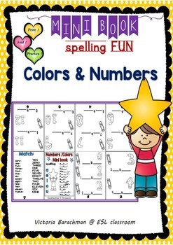 ESL /Numbers and Colors- Mini book/ Spelling and Coloring Fun
