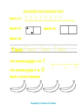 Numbers and Colors Packet