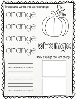 Numbers and Colors Worksheets:  Pre-K and Kinder