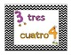 Numbers and Colors in Spanish Poster Set (Chevron Style) C