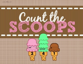 Numbers and Counting 1-10 Ice Cream Cones
