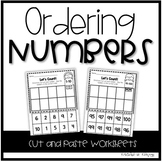 Kindergarten Math - Ordering Numbers and Counting Workshee