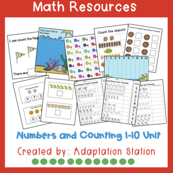 Numbers and Counting Adapted Books and File Folder Activities