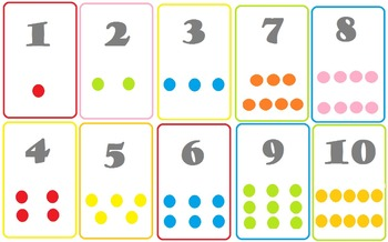 Numbers and Counting Cards w/ matching game