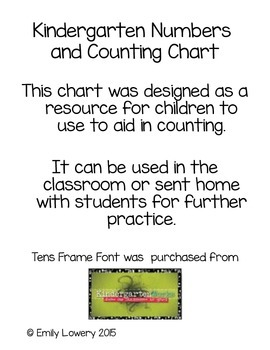 Numbers and Counting Chart
