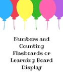 Numbers and Counting Flashcards or Learning Board Display