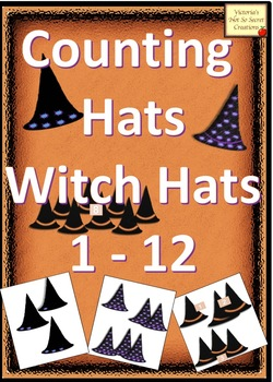 Numbers and Counting HALLOWEEN FALL Count the Witch Hats Clipart Sets