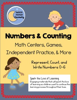 Numbers and Counting - Math Centers, Games, Independent Practice, & More