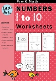Pre-K Numbers 1 to 10 Worksheets
