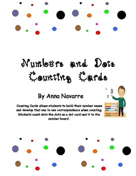 Numbers and Dots Counting Cards