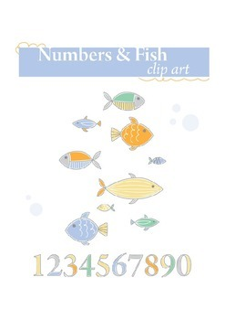 Numbers and Fish clip art