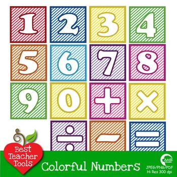 Clipart Number Blocks Clip art, blocks with stripes AMB-465