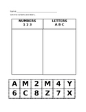Numbers and Letters Sort