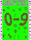 Math Numbers Clipart - Cheetah