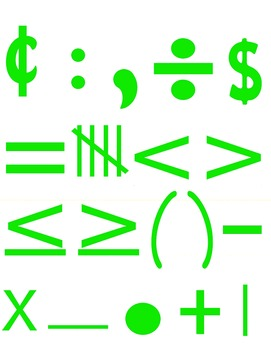 Math Numbers Clipart - Green