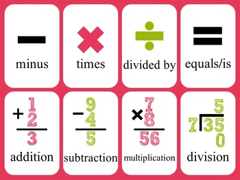 Numbers and Mathematical Symbols