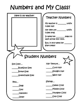 Numbers and Me!  Numbers & My Class!