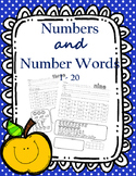 Numbers and Number Words 1 - 20