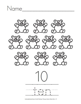 Numbers and Number Words {1 to 10}
