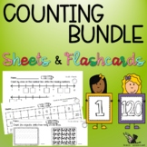 Number Flashcards and Counting Worksheets - Bundle