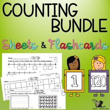 Number Flashcards and Worksheets - Bundle