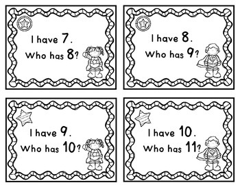 Numbers and Number Words - I have...Who has?