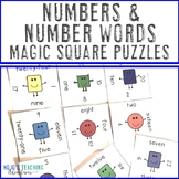 Numbers and Number Words Math Center Game | Numbers Matchi