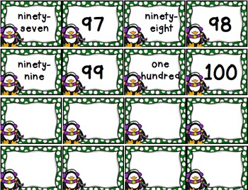 Numbers and Number Words Match Game
