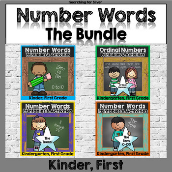 Numbers and Number Words Printables and Activities BUNDLE