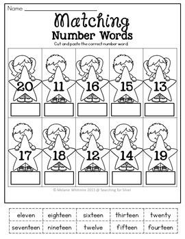 Number Words Printables and Activities BUNDLE
