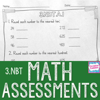 Math Assessments - Third Grade Base Ten