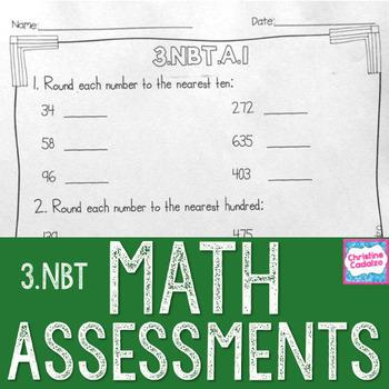 Math Assessments - Third Grade Base Ten