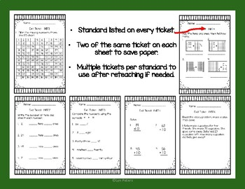 Numbers and Operations Base Ten | Check for Understanding | Formative Assessment