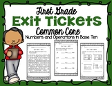 First Grade Numbers and Operations in Base Ten Exit Tickets