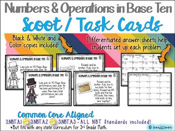 Numbers and Operations - Scoot - Solve the Room - Task Cards