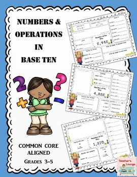 Numbers and Operations Common Core Math Practice: Grades 3-5