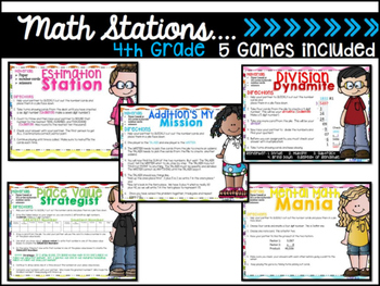 Numbers and Operations Differentiated Math Centers Grades 2,3,4