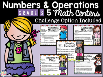 Numbers and Operations Differentiated Math Centers Grades 3