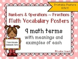 Numbers and Operations- Fractions Common Core Math Vocabul