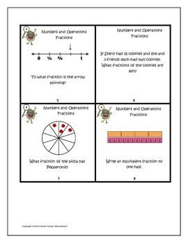 Numbers and Operations Fractions - Monsterous Math Game for Third Grade